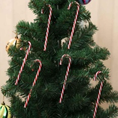 6pcs Xmas Tree Candy Cane Hanging Ornament Decoration Christmas Party Decor - Intl By Ailsen.