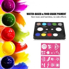 8 Colors Vivid Water-based Pigment Face Body Paint Palette Painting Kit DIY Cosplay Tool