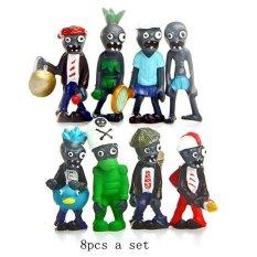 8Pcs A Set Toys Plants Vs Zombies Game Pvc Action Figures ToyDollmodel Toy Game Collections Figure