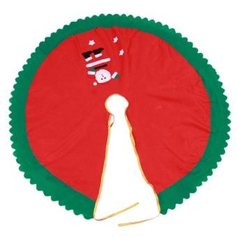 90cm 1Pc Santa Claus Tree Skirt Christmas Tree Skirt Christmas Tree Decoration Christmas Supplies Christmas Decoration - intl