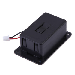9V Charger Box Case Cover Holders For Guitar Bass Pickup Black