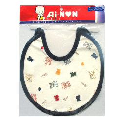 Ainon Baby Bib with Overall Print (Blue)