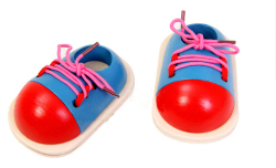 Amango Wooden Toy Learn How To Tie Shoelaces