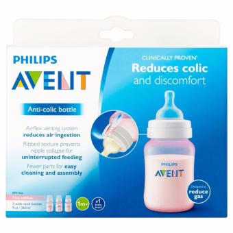 Avent Classic Feeding Bottle 9oz/260ml Pack of 3 (Pink)