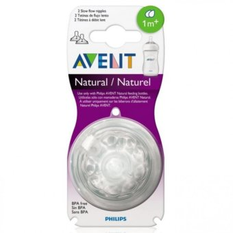 Avent Natural Feeding Bottle Slow Flow Nipple (2pcs)
