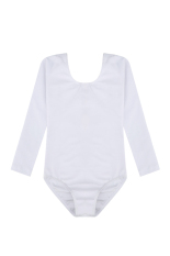 2bc117cacd4c AZONE Arshiner Kids Girls Long Sleeve Dancewear Gymnastics Bodysuit Ballet  Leotard ( White )