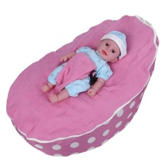 Baby Bean Bag Base Snuggle Bags Infant Sleeping Bed Children Seating Without Filling Dot&pink - Intl By Duoqiao.