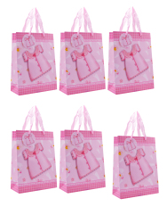 Baby Dress Design Paper Bag Pack of 6