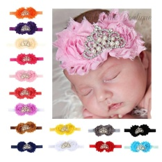 Baby Infant Newborn Girl Bow Crown Headband Stylish Hair Band Floral Head Wrap - intl