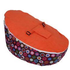 Baby Sleeping Bed Infant Bean Bag Base Snuggle Bags Children Seating Orange - Intl By Globedealwin.