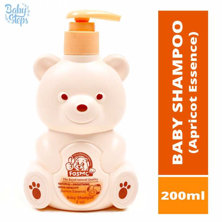 Baby Steps FASMC Baby Shampoo 2 in 1 Apricot Essence 200ml