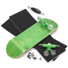 Basic Complete Wooden Fingerboard Finger Scooter With Bearing Grit Box Foam Tape Green - Intl By Freebang.