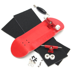 Basic Complete Wooden Fingerboard Finger Scooter With Bearing Grit Box Foam Tape Red - Intl By Freebang.