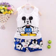 Bear Fashion Baby Boys Girls Cartoon Casual Clothing Kids Summer Sport Style Clothes 2pcs Set -