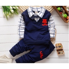 BibiCola new spring autumn baby boys clothing set cotton boys t-shirts+pants sport