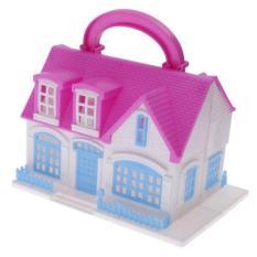 BolehDeals Dolls Accessories - Plastic Villa House for Barbie Dolls Kids  Pretend Toy - intl a7e1719205