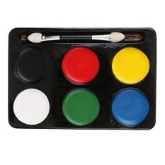 BolehDeals Halloween Clown 6 Colours Make Up Face Paint Palette Fancy Painting Kit Set - intl