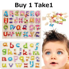 Buy 1 Take 1 Wooden Alphabet Peg Puzzle Baby Toddler Preschool Kids Toys Learning Board By Sangie Enterprise.