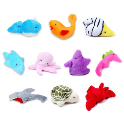 Buytra Finger Puppets Cloth Doll Sea Animal 10pcs