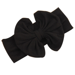 Buytra Girls Baby Bow Hairband Cotton Stretch Black