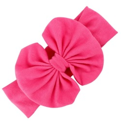 Buytra Girls Baby Bow Hairband Cotton Stretch Rose