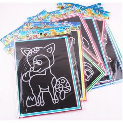 Buytra Scratch Painting Paper with Drawing Stick 2Pcs