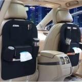 Car Back Seat Organizer Storage Multi Pocket Black 2 Pieces