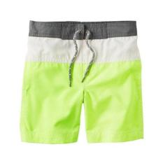 Carter's Swim Shorts - Yellow And Gray (24 Months) By Kinderposh.