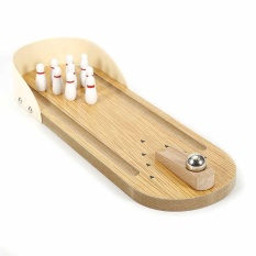 Child Wooden Mini Desktop Bowling Game Toys Desk Ball Board Games Top Quality - Intl By Ailsen.