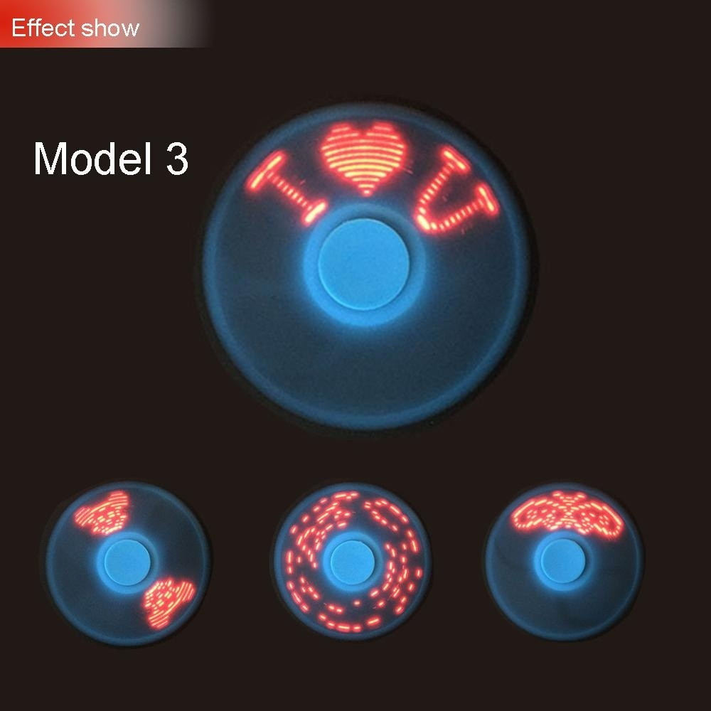 CHINCOLOR 4 Models Glowing torqbar Fidget Tip Gyro Love butterfly stars heart Finger Gyro Random Color