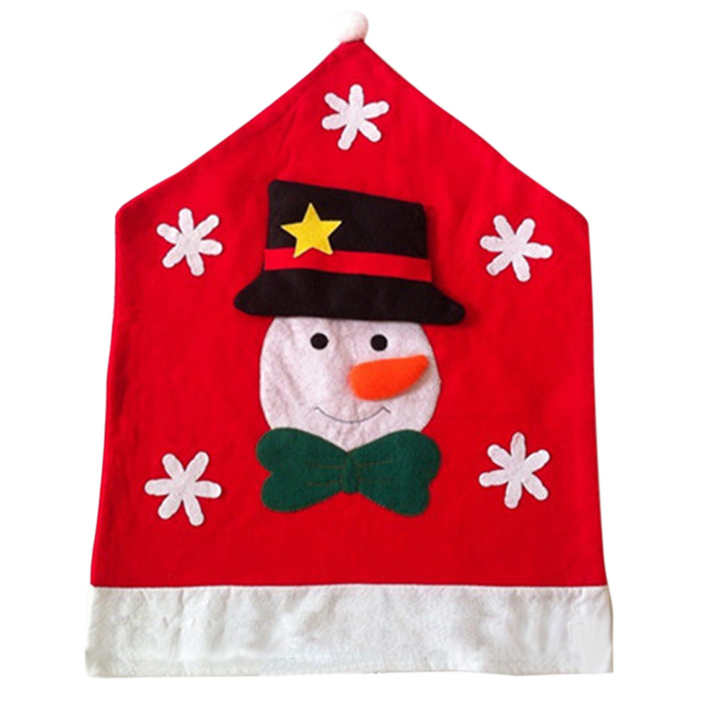 Christmas Snowman Kitchen Chair Covers - INTL - thumbnail