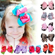 Cocotina Large Double Layers Hairbow Girls Baby Hair Bows Grosgrain Ribbon Clips - intl