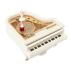 ... Cocotina White Classic Piano Music Box Ballet Dancer Dancing Ballerina Musical Toy Novelty Gift