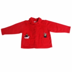 Infant Tops Jacket Collared With Front And Back Embroidery (red) By Panmanhattan Marketing Corp.