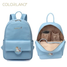 4c0fb8c220 Colorland Pu Leather Baby Travel Mummy Maternity Changing Nappy Diaper Tote Bag  Backpack Baby Orgenizer Bags