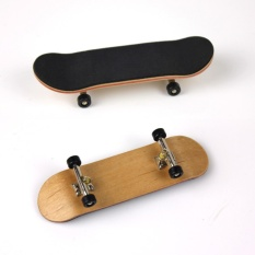 Complete Wooden Fingerboard Finger Skate Board Grit Box Foam Tape Maple Wood Black - Intl By Mimar Upup.