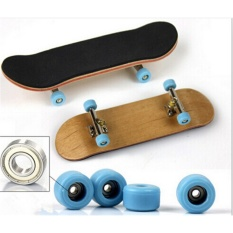 Complete Wooden Fingerboard Finger Skate Board Grit Box Foam Tape Maple Wood Black - Intl By Colorful Heart.