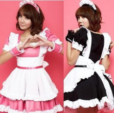 Maid Costume Cosplay Clothing Anime women Comic Exhibition Restaurant  Performance Uniform Powder Black Maid a Maid 8d31cdb537d9