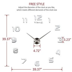 Creative Living Room Decoration Diy Acrylic Wall Clock Wall Stickers Watch - Intl By Lagobuy.