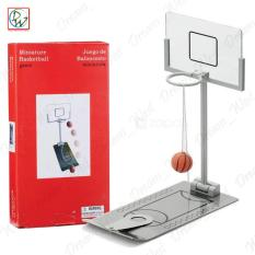 Creative Mini Foldable Miniature Basketball Tabletop Spring Loaded Stress Relief Basketball Game Desktop Toy- Indoor Outdoor Fun Sports Novelty Toy Or Gag Gift Idea (grey) By Dreamwest Corporation.