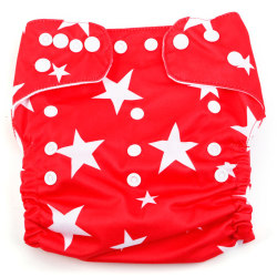 Curity Star Design Pocket Diaper (Red)