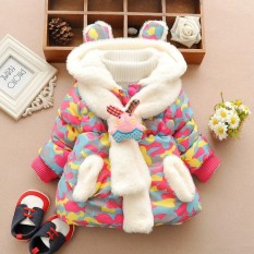 Cute Rabbit Baby Winter Jacket Thick Cotton-Padded Baby Girl Outerwear Coat - Intl By Cmktech.