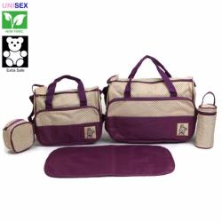 Cutie 5 Piece Set Diaper Bag (Violet)