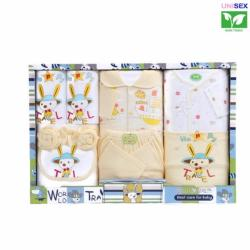 Cutie Infant 9 Piece World Travel Clothes Gift Set (Yellow)