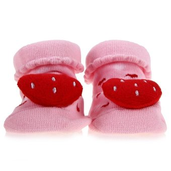 DHS Babys Anti-Slip Socks (Pink) - Intl - picture 2