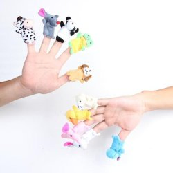 DHS Family Finger Puppets Cloth Doll Animal Toy Child Kid Gift 10 Pcs - Intl