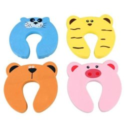 DHS Set 4 Baby Kids Safety Lock Animal Door Stop Pinch Guard Brand IN - Intl