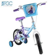 Disney Frozen 12 Kids Girls Bike - Bicycle With Basket And Training Wheel - Blue (standard) By Js Philippines Global Corp..