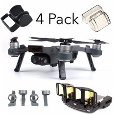 Dji Spark Accessories Set Bundle Combo Lens Cap Hood Sun Shade Camera Cover Protector Landing Gear Antenna Range Booster (4 Pack) - Intl By Webster.