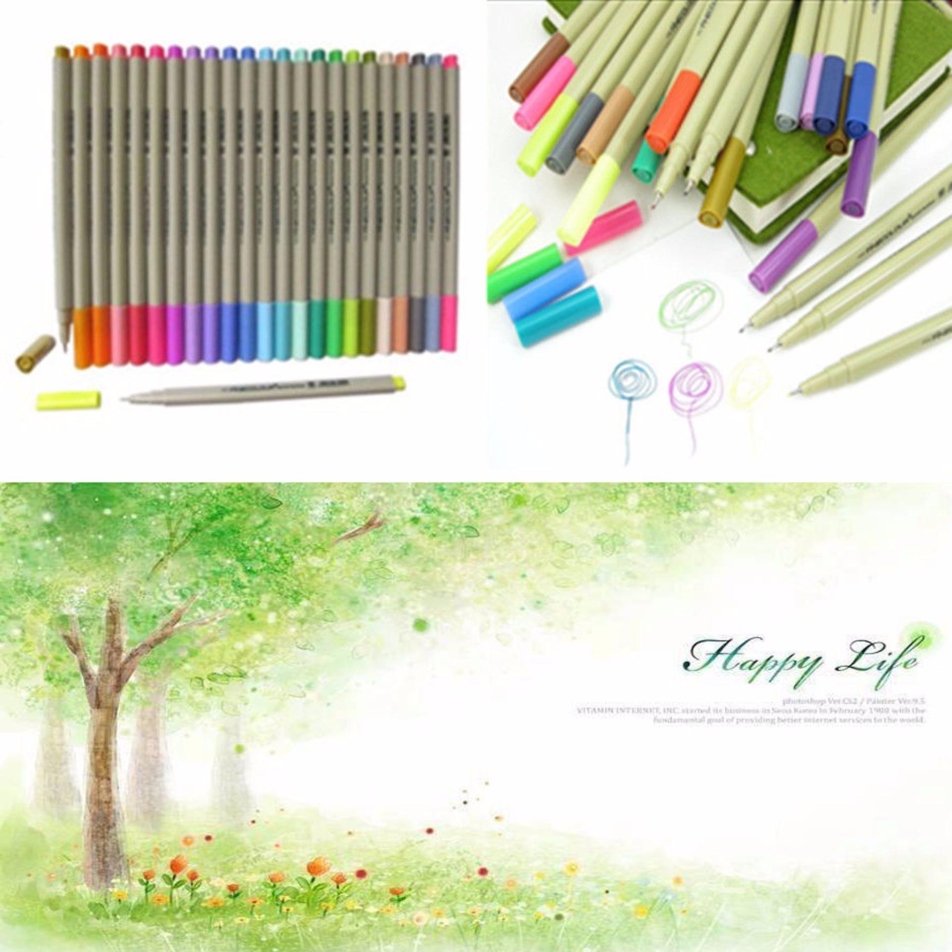EF300 Sketch Fine Liner Pen Drawing Painting Tool 48 Colors Set